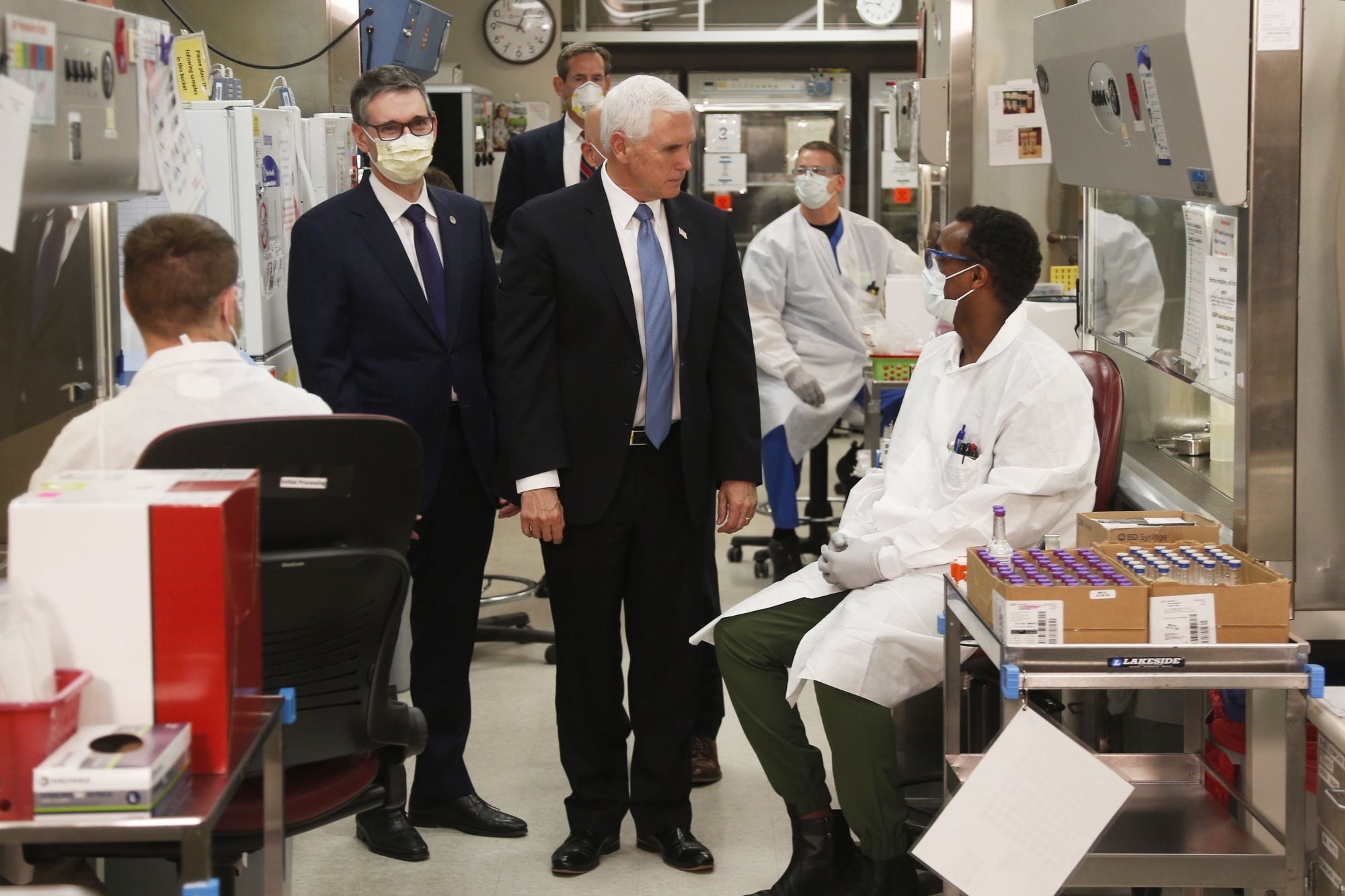 This Time Pence Wears Mask As He Tours Indiana Plant Wtop