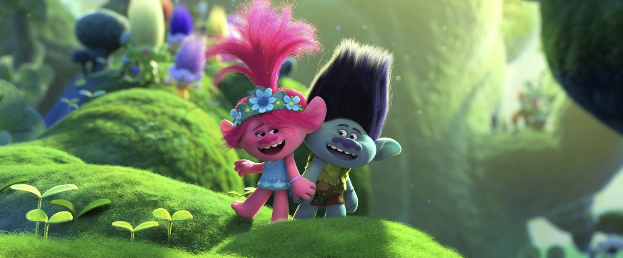Review Trolls World Tour Explores Music History As It Makes Film History On Demand
