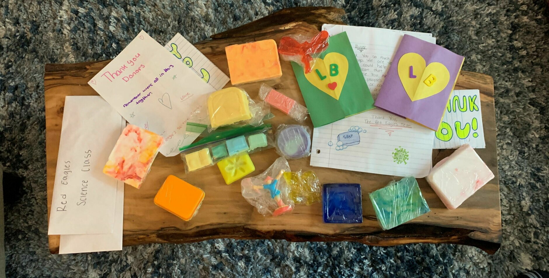 soap and cards