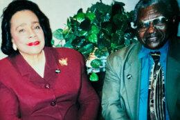 Thomas Gray, the author's father, with Coretta Scott King.