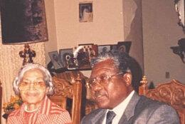 Thomas Gray with Rosa Parks.