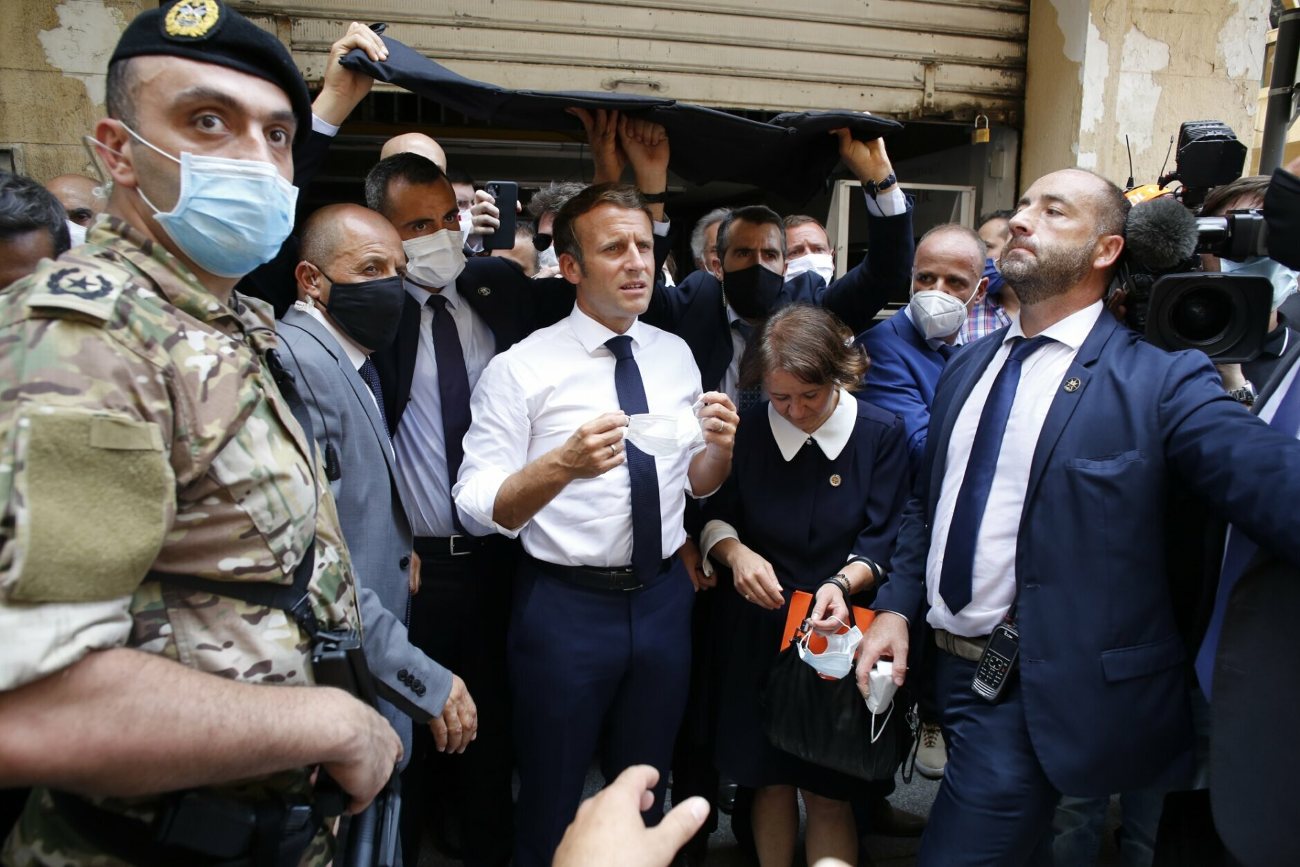 Macron Promises Help Beirut Residents Vent Fury At Leaders Wtop
