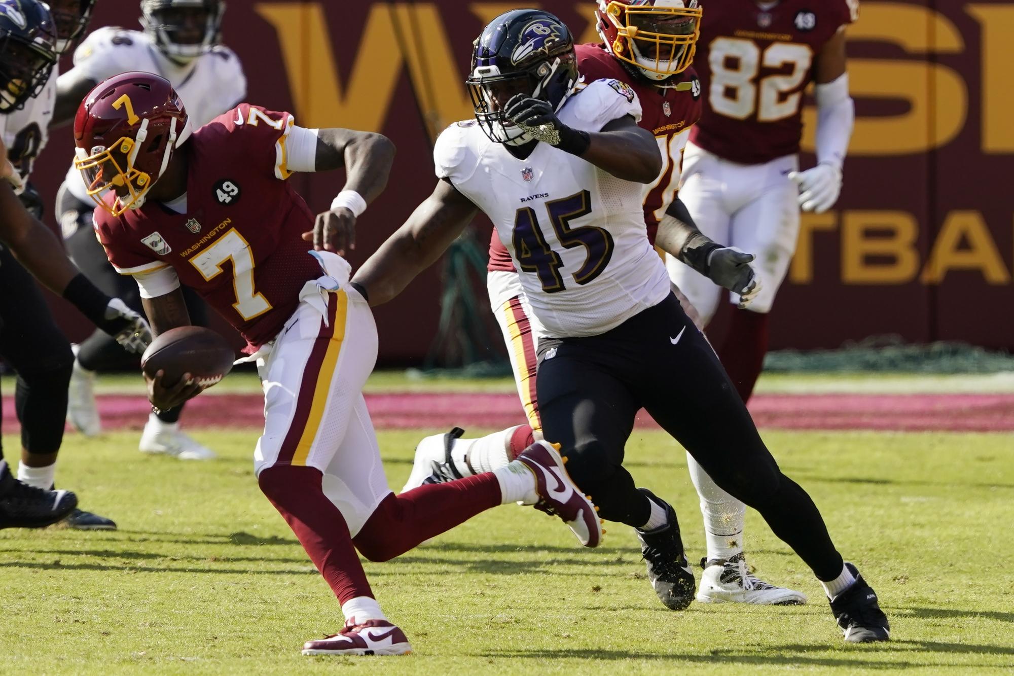 Ravens put 4 defensive players on COVID-19 list