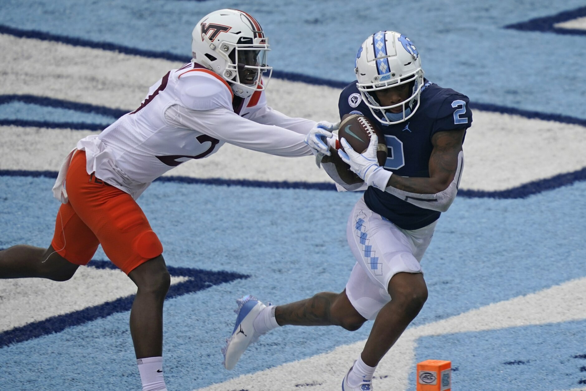 Carter, No. 8 UNC run past No. 19 Virginia Tech 56-45 | WTOP North Carolina Football Score