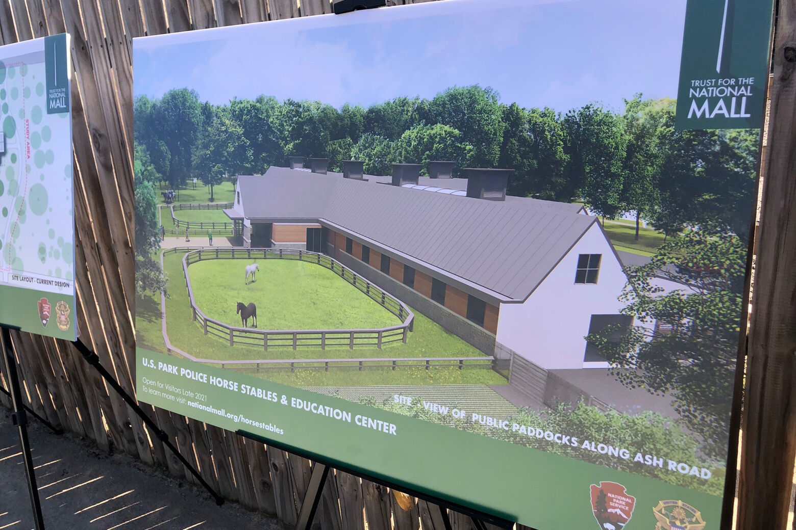 rendering of horse stable on National Mall
