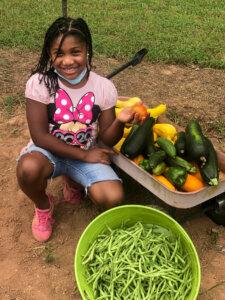 A bounty of veggies from Lyric's garden haul. (Courtesy Lyric's Garden Club)