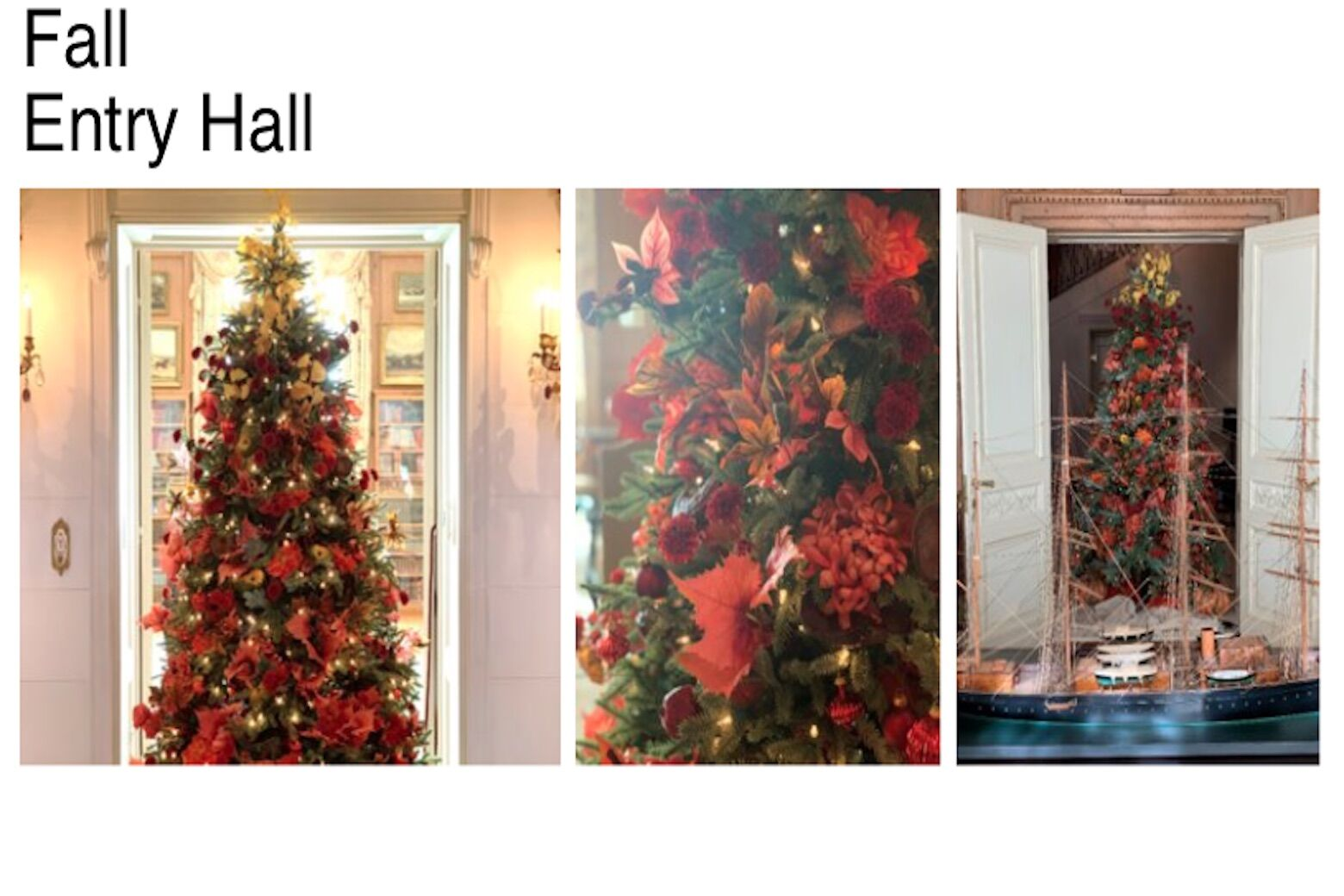 <p>Hillwood presents a fall-themed Christmas tree. (Courtesy Hillwood)</p>