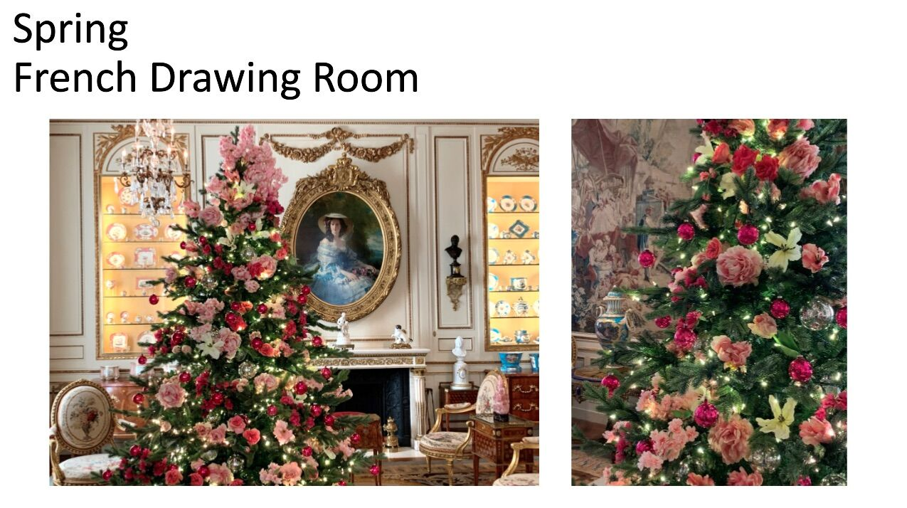 <p>Hillwood presents a spring-themed Christmas tree. (Courtesy Hillwood)</p>
