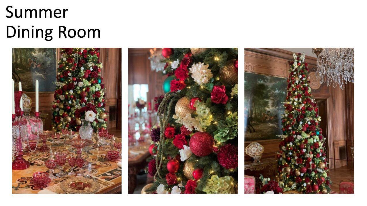 <p>Hillwood presents a summer-themed Christmas tree. (Courtesy Hillwood)</p>