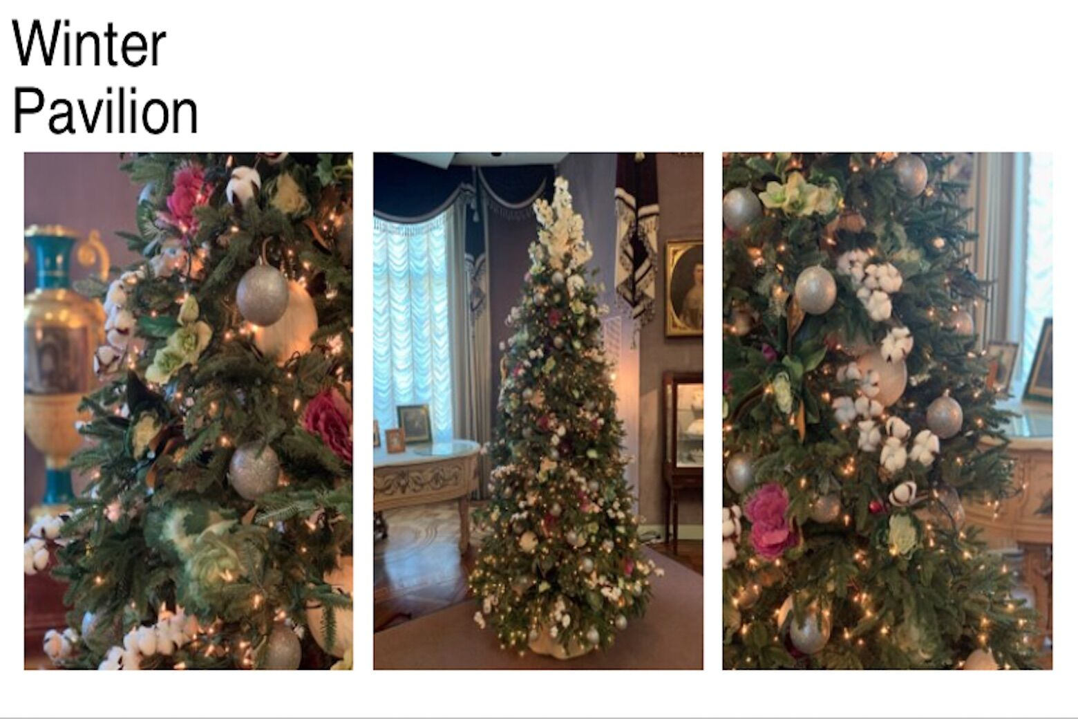 <p>Hillwood presents a winter-themed Christmas tree. (Courtesy Hillwood)</p>