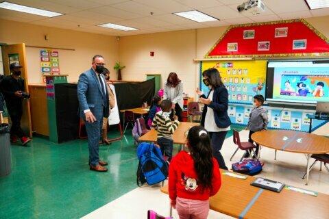 Education secretary Cardona visits reopened Prince George's County school