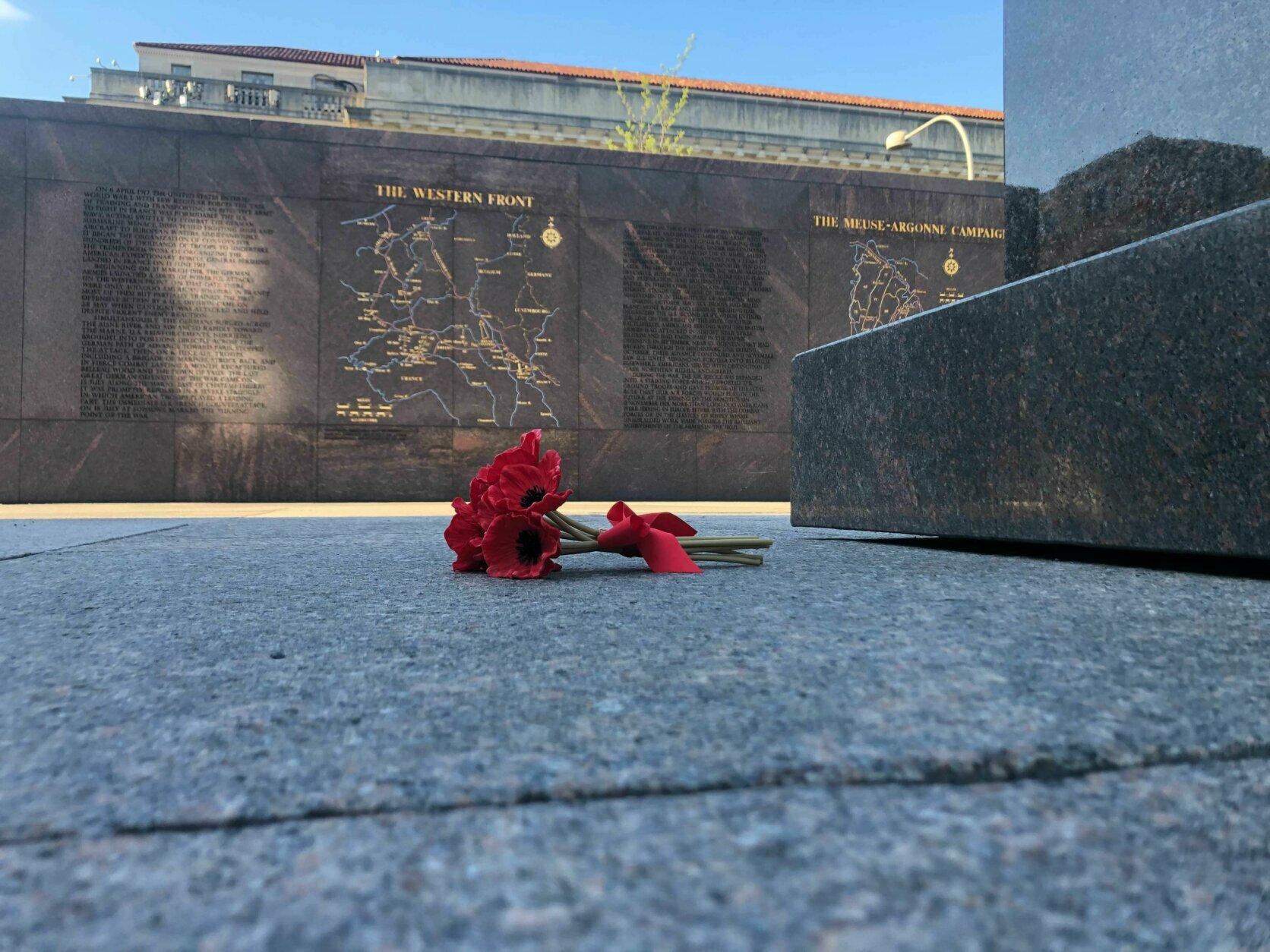 Flower at memorial