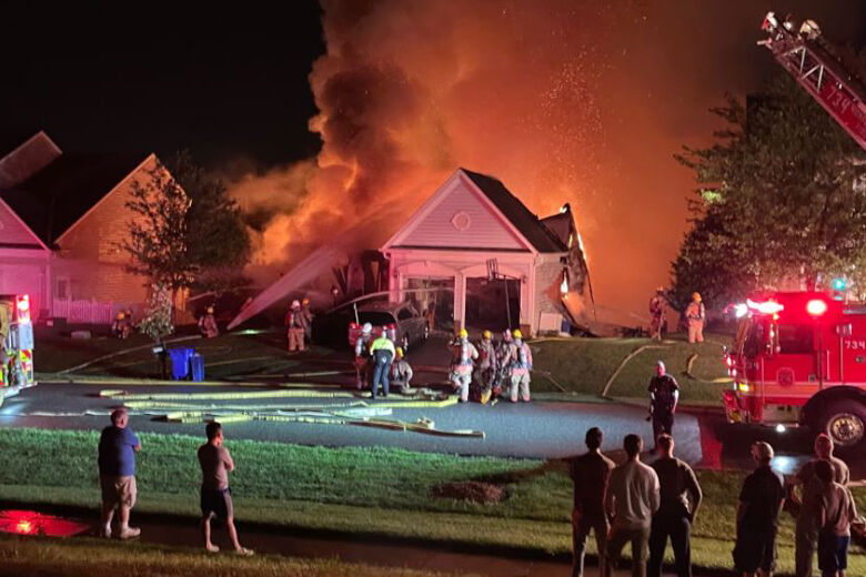 Lightning causes house fire in Damascus, displaces family