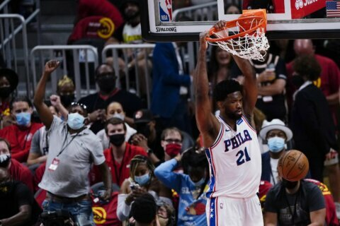 Embiid, 76ers beat Hawks 127-111 to take 2-1 lead in series