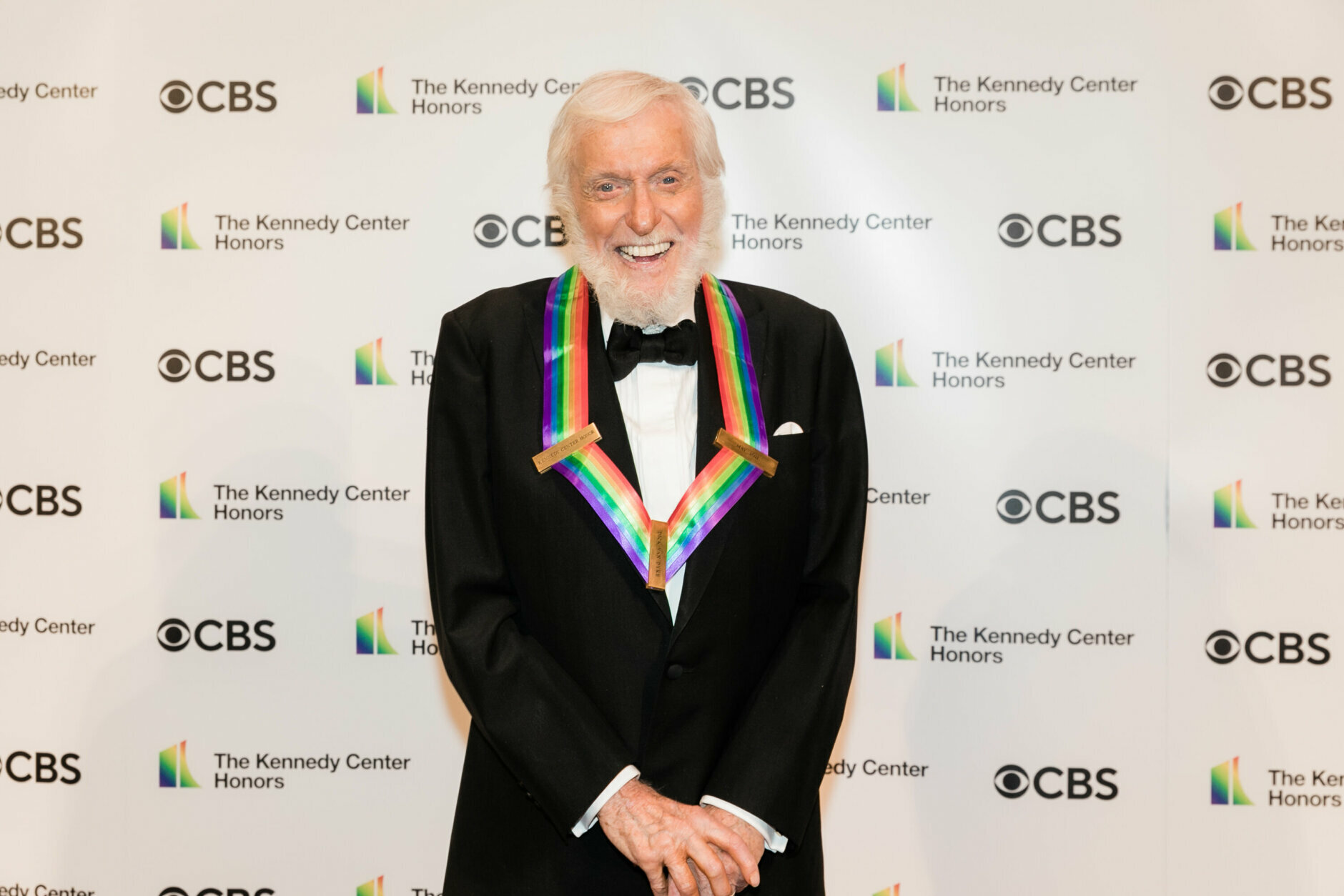 <p>Dick Van Dyke on the red carpet. (Tracey Salazar)</p>