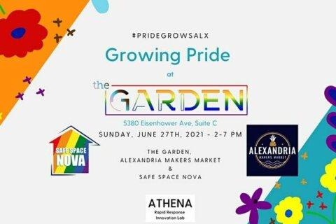 Alexandria hosts 'Growing Pride in the Garden' event with rainbow planters