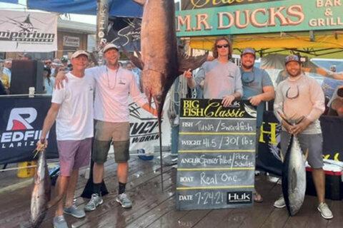 Reel big fish: Record set for swordfish caught off Ocean City coast