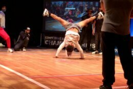 <p>A break dancer competes at the Rock the Box competition in Silver Spring, Maryland. (WTOP/Valerie Bonk)</p>