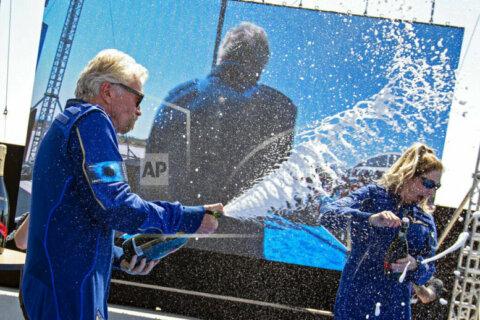 Billionaire Richard Branson makes space history