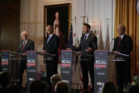 Republicans aim at GOP base in 1st California recall debate