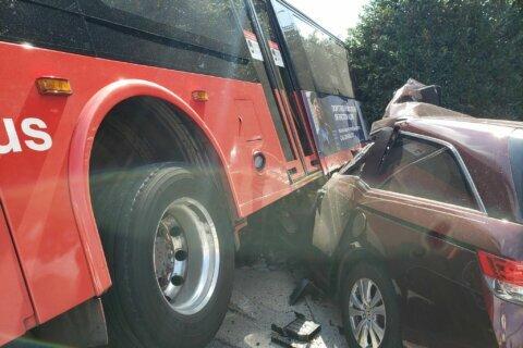 6 injured after crash involving Metrobus in Montgomery Co.