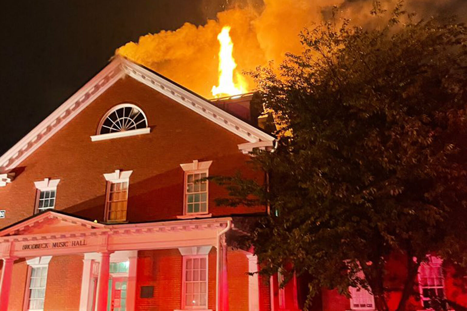Hood College fire caused by lightning strike