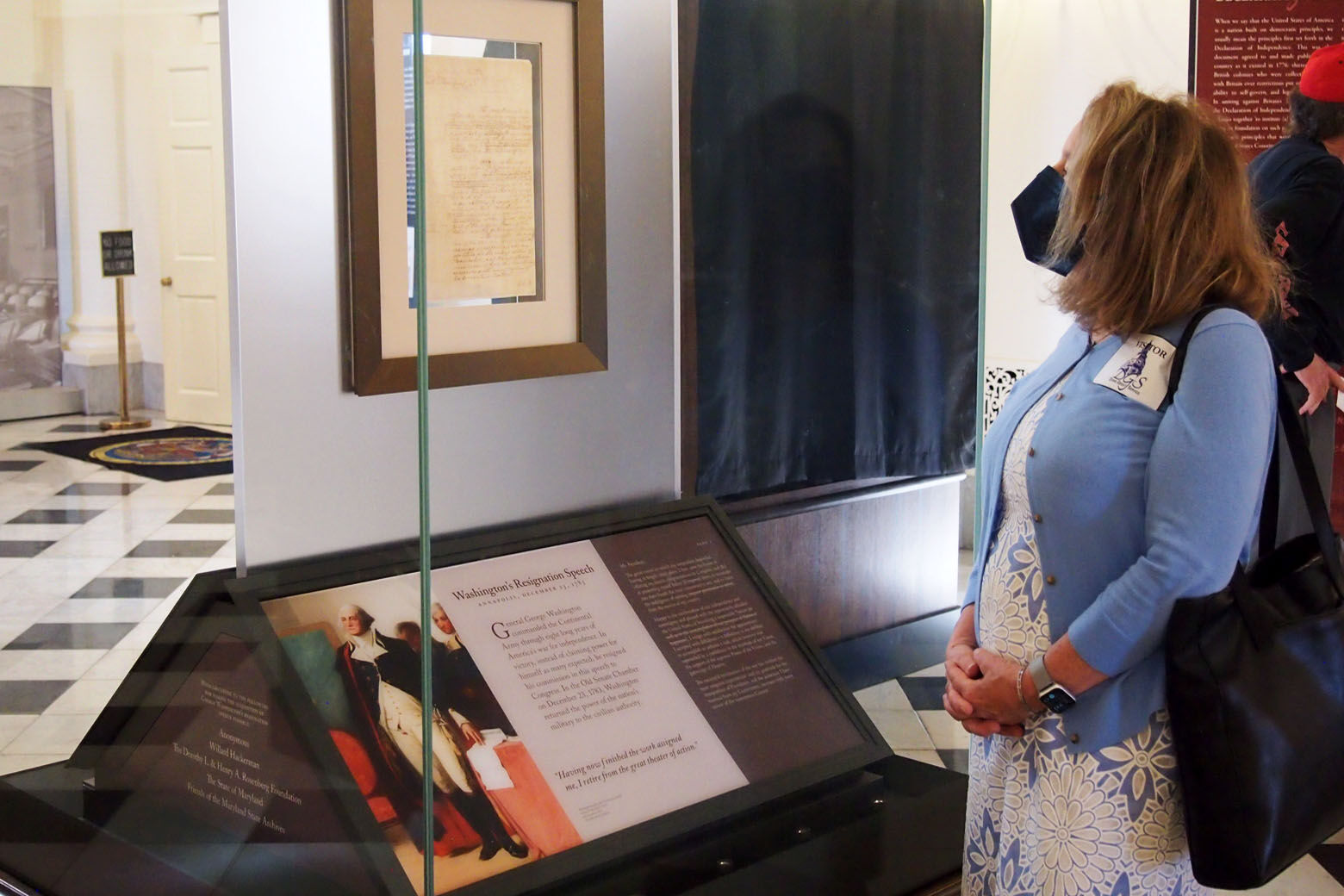 Newspaper prints of US Constitution on display in Annapolis