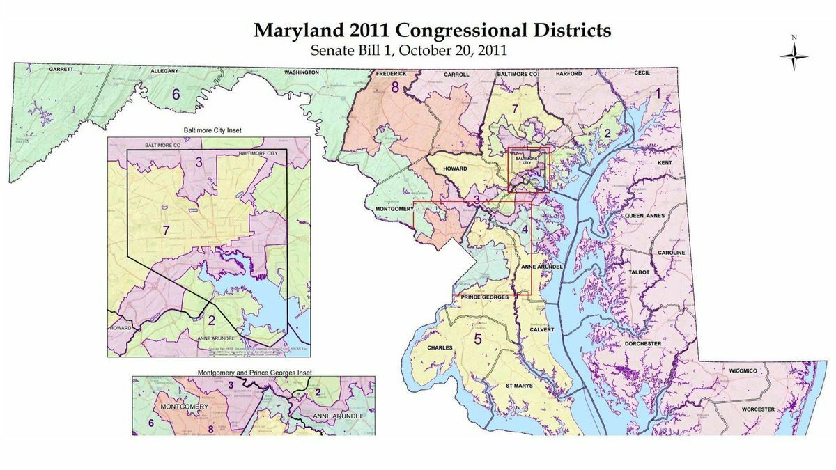Md. 2011 congressional map
