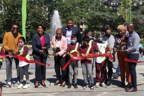 DC celebrates the new and improved Franklin Park downtown