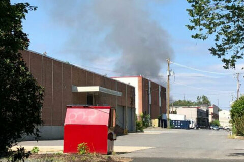 DC firefighters respond to flames at Fort Totten trash transfer station
