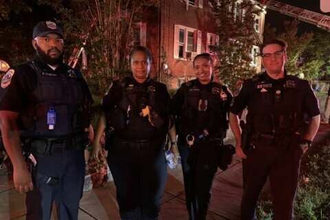 DC police sergeant who entered force 'to make a difference' pulls older man from burning building