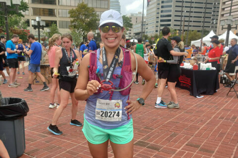 She once quit track because she was too slow; now she's running the Marine Corps Marathon