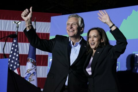 Vice President Harris campaigns in Virginia, calls governor's race 'tight'