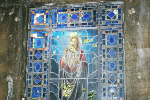 Arlington Co. helps Tiffany-stained glass window from neglected Abbey Mausoleum return to the light