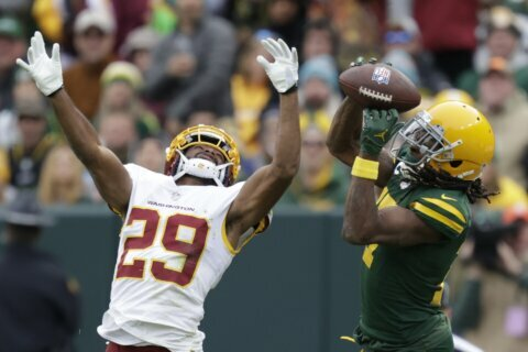 Washington falls to Packers 24-10 for 3rd straight defeat