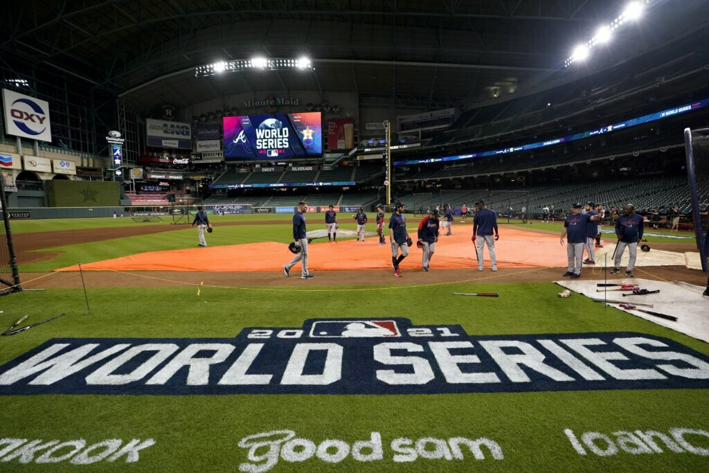 The Latest: Minute Maid Park tag closed for game 1