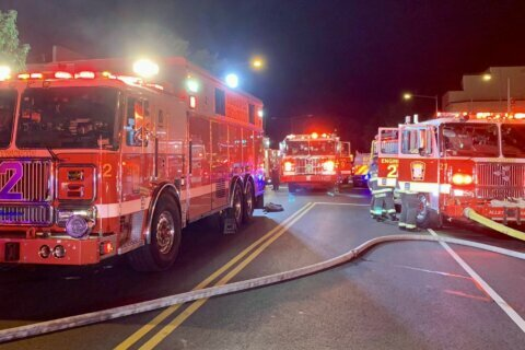 Northwest DC apartment fire leaves three residents, one firefighter injured