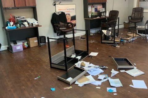 2 arrested for punching employees, flipping desks at Stafford Co. auto outlet
